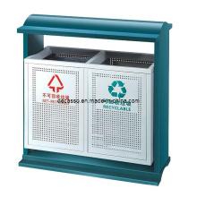Cubo de basura de metal ordenable al aire libre (DL101)