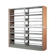 School Library use 6 layers book display metal bookrack
