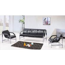 classical small size sofa ,black office sofa ,office furniture