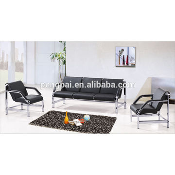 classical small size sofa ,black office sofa ,office furniture