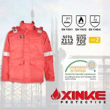 Chaquetas de trabajo de invierno 100% algodón trabajo de seguridad para el uso de la industria