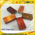 Grão de madeira personalizada da electroforese 3D do perfil da extrusão de alumínio para o perfil da tubulação