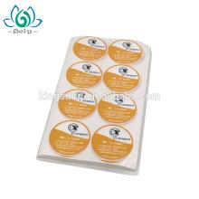 custom die cut 2 inch round e-paper label