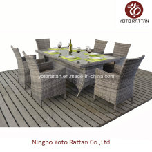 Outdoor Rattan Dining Set with Steel Frame (1412)