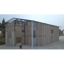 Long Life Time Estructura de acero ligero Cement Board Villa House