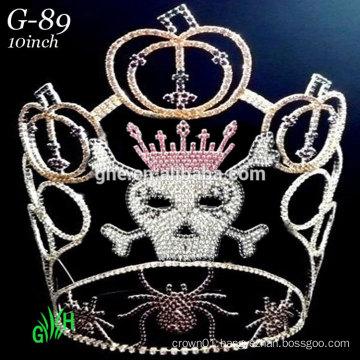 pumpkins spider skeleton rhinestone pageant tiara