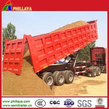 Sand Gravel Transport Box Dumper Semi Truck Dump Tipper Trailer