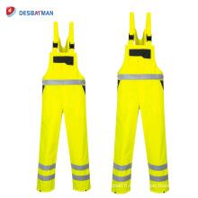Salut les vêtements de travail imperméables de trafic de contraste de Vis, salopettes de travail de sécurité de visibilité élevée Front Zip avec 6 poches réfléchissantes