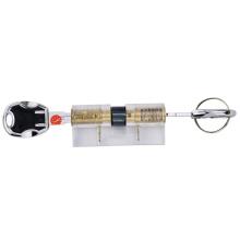 Núcleo de Bloqueio de Cilindro de Lâmina de Prática Transparente com Chaves de Trilhas Multi-D
