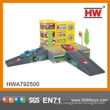 High Quality Plastic Car Garage Kids Gift Set