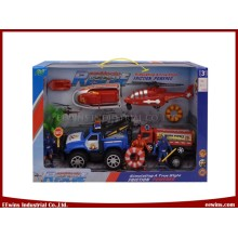 DIY Toys Beach Police Rescue Team Play Sets for Kids
