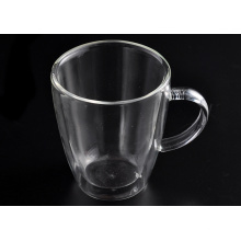 Double Wall Glass Coffee Cup with Handle