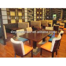 Mesa e cadeira de restaurante de madeira mais barata XDW1258