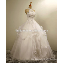 Women white color bridal gown dress sexy beaded flowing leace beach plus size mermaid wedding dress