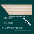 High Density Waterproof Interior Decoration Materials PU Foam Flower Molding