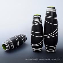 Vaso de cerámica antigua clásica para el hogar decorativo (B136)