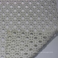 Hole design cutwork lace fabric white cotton lace embroidery fabric