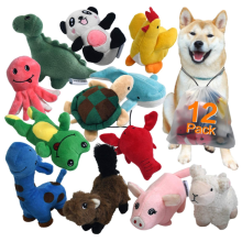 Squeaky Plush Dog Toy Pack for Puppy