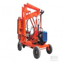 Guard Beam Post Install Machine Highway Guardrail hydraulic pile driving machine
