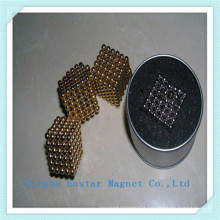 Gold Plating Rare Earth Bead Jewelly Magnet