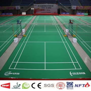 Vinyl mobile badminton court flooring tikar