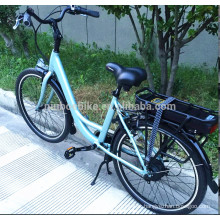 Hot sale factory price 36v  electric bike 250w e bike with Rear Carrier for adults with battery