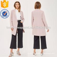 Pink Asymmetrical Split Jacket OEM/ODM Manufacture Wholesale Fashion Women Apparel (TA7004J)