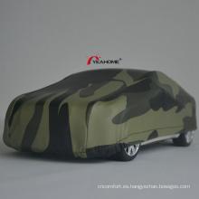 Cubierta de sedán a prueba de agua Camuflaje elástico anti-UV Cubierta de automóvil al aire libre Impresión de cubierta automática