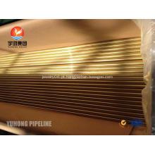 Tubo sem costura em liga de cobre ASTM B111 C44300