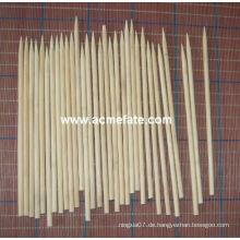 Natürlicher BBQ Grill Runde Bambusspieße