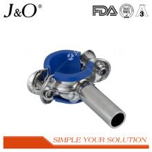 Suporte sanitário de tubo de aço inoxidável com inserção azul