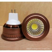 Nuevo Dimmable 3W 5W 12V DC MR16 COB Bombilla LED Spotlight