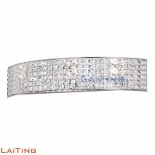 Moderne corde de chanvre pendentif lumière argent cristal lustre semi-cercle 32428