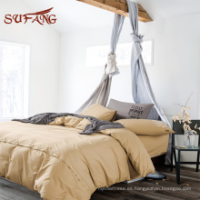 Nantong factory Hypoallergenic colorful egyptian cotton comforter set/ bed sheet set in queen size