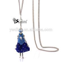 2015 Hot Sale Popular Doll Pendant Metal Necklace Vintage Jewelry Ladies Necklace wholesale JA6517-B1