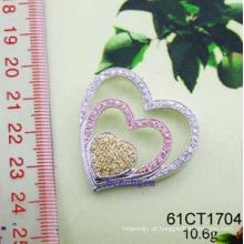 Cubic Zirconia prata pingente (61CT 1704)