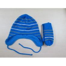 Moda roupa de malha chapéu e luvas