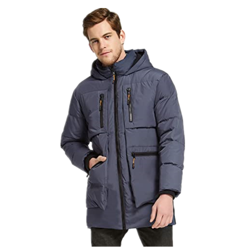 Men S Thickened Down Jacket Classical Winter Hooded Coats With Multiple Pockets1
