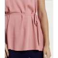 Сексуальная длинная блузка с завязками на талии