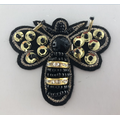 Berlian buatan Cyrstal Sequin Bee Handmade Beaded Patch