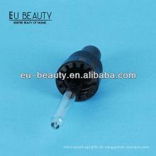 Glaspfeife 18/400 mit Glaspipette schwarzer Kunststoffverschluss