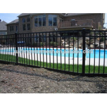 High Quality Spraying Plastic Flat-Top Steel Fence for Gate