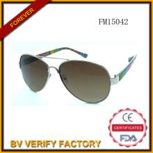 Mode-PC & Metall gemischt Sonnenbrille (FM15042)