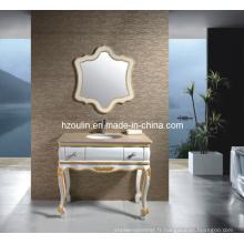 Meuble-lavabo de salle de bain en bois classique en marbre (1807)