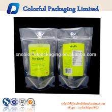 saco de zíper 5 por 8 polegadas de plástico transparente poli embalagem de amostra de cosméticos
