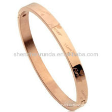 Pulsera romántica de la pulsera hombres del brazalete de las mujeres de los hombres que el amante de los letras inscribe la pulsera del brazalete la joyería simbólica del amor del acero inoxidable
