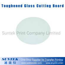Sublimation Big Round Toughened Glass Cutting Board