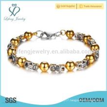 New 14k gold bracelet,stainless steel bracelet ,waterproof bracelet