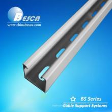 Canal de puntal ranurado de acero galvanizado en caliente con CE, SGS, UL (canal C, Unistrut, Uni Strut Channel)