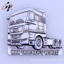 Factory price wholesale custom truck magnetic metal badge with logo